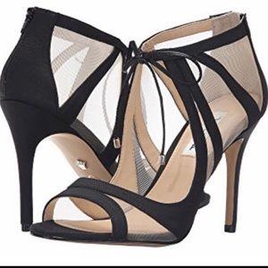 Nina Cheri Ilusion siletto heels mesh nude insets